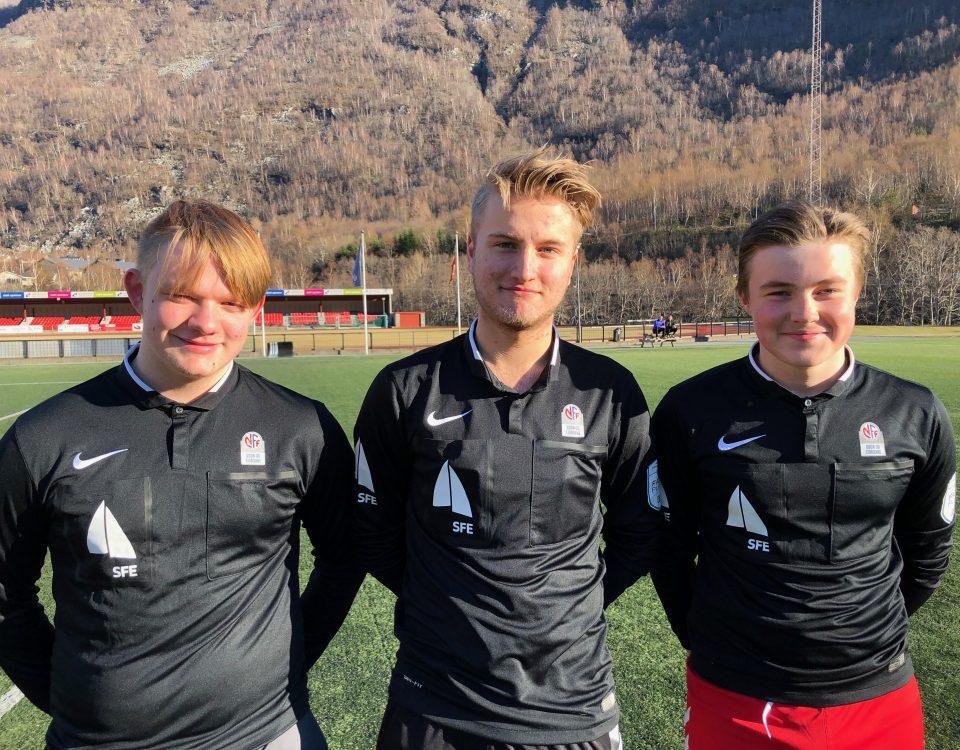 Fv. Marius Kleiven Øy, Hermann Vigdal Øren og Theo Kopperdal (Foto: Privat)