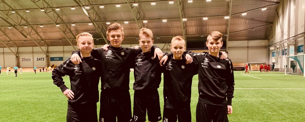 F.v Isak Hove, Lidvin Hestetun, Sander Hestetun Kilen, Aleksander Nundal og Kevin Lægreid. Foto: Privat